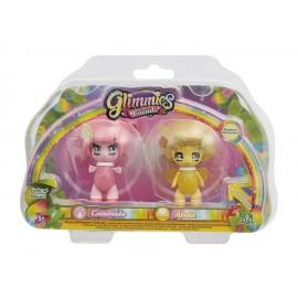 Giochi Preziosi - Glimmies Rainbow Friends Blister Doppio, Castorinda e Abella