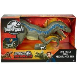 Jurassic World- Dino Rivals Velociraptor Blu Dinosauro Articolato, Mattel GCT93