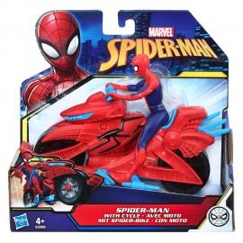Spiderman - Personaggio 13 cm circa con moto Hasbro E3368