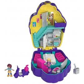 Polly Pocket - Bar degli Zuccherini, Nuovo Cofanetto con 2 Dolls, Un Micro-Veicolo di Mattel  FRY36