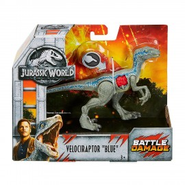 Jurassic World Velociraptor Blue - Ferite da Combattimento, Mattel  FNB33