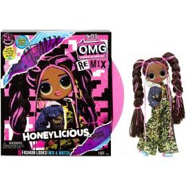 L.O.L. Surprise! O.M.G. Remix - con 25 Sorprese - Bambola da Collezione con Vestiti & Accessori - Honeylicious