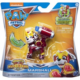 PAW PATROL Mighty Pups Super Paws Marshall di Spin Master 6052293