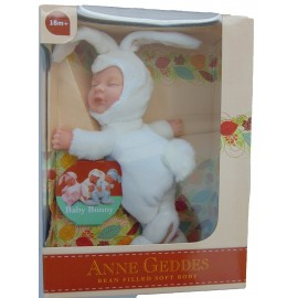 new Anne Geddes , Bambola- CONIGLIO BIANCO cm.23 BABY BUNNIES