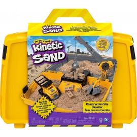 Kinetic Sand Valigetta Cantiere con Veicolo e 907 g di Sabbia,  Spin Master 6055877