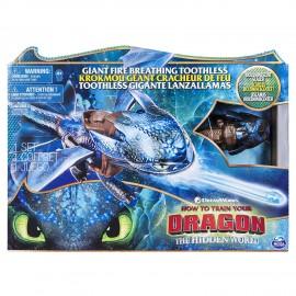 Dragons- Sdentato Drago con Effetti Sputafuoco e Decorazioni Bioluminescenti, Spin Master 6045436