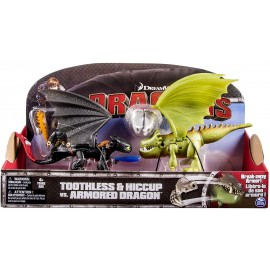 Dragons - Toothless & Hiccup vs. Armored Dragon
