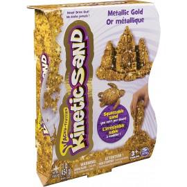 Kinetic Sand- Sabbia Modellabile Confezione Effetto Metallico, ORO - GOLD