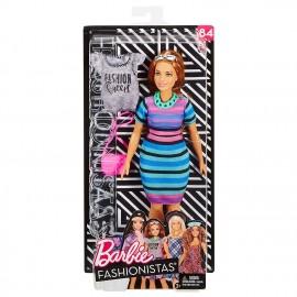 Barbie Fashionistas Tinte Vivaci - con Un Secondo Look Incluso, FJF69 di Mattel