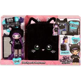 Na! Na! Na! Surprise 3-in-1 Zaino Camera da Letto Black Kitty con Bambola Tuesday Meow in Edizione Limitata
