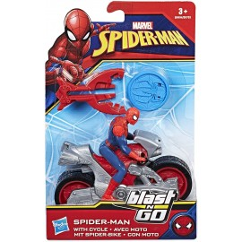 Marvel Spiderman - veicolo Blast & Go Spider Man, B9994-B9705 Hasbro
