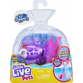 Little Live Pets Lil' Dippers Single Pack - Seaqueen - aquaritos di Giochi Preziosi LP101000