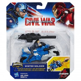 Marvel Avengers Captain America Combat Racer Winter Soldier CON MOTOCICLETTA