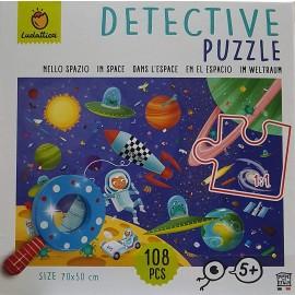Ludattica Detective Puzzle nello Spazio con Lente d'Ingrandimento di Lisciani