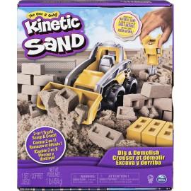 Kinetic Sand, Set Cantiere con Veicolo da Lavoro, Spin Master 6044178