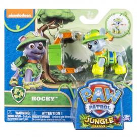 Figura Paw Patrol Pup Jungle Rocky di Spin Master