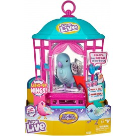Little Live Pets cocoritos L'Originale Personaggio - Snow Gleam - con Effetto luci e Suoni in gabbietta cocoritos maschietto Snow Gleam  giochi preziosi
