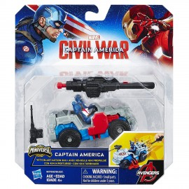 Marvel Avengers Captain America Combat Racer Captain America CON MACCHINA 4X4
