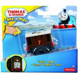 Trenino Thomas, Veicolo Toby luci e Suoni, Mattel Y9468 -T2991