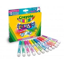Crayola pennarelli 58-8335 - 12 Pennarelli i Lavabilissimi Punta Maxi, Colori Tropicali