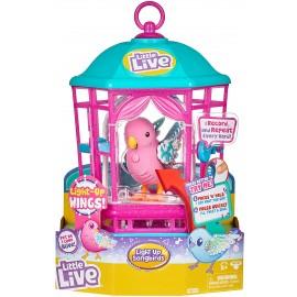 Little Live Pets cocoritos L'Originale Personaggio - Rainbow Glow - con Effetto luci e Suoni in gabbietta cocoritos femminiccia Rainbow Glow giochi preziosi