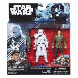 Star Wars Serie Deluxe Snowtrooper Officer+Poe Dameron B7073 B8612 di Hasbro