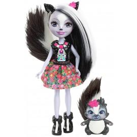 Enchantimals  Sage La Puzzola con Amico Cucciolo Caper di Mattel DYC75