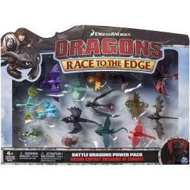 Dragons- DreamWorks Confezione da 15 Battle, Multicolore, 6027505
