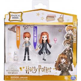 Harry Potter Set Amicizia Ron e Ginny Weasley con mascotte, bambole articolate 7.5cm, Spin Master 6061834