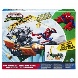 Spiderman - Web City Rhino Playset di Hasbro B7199