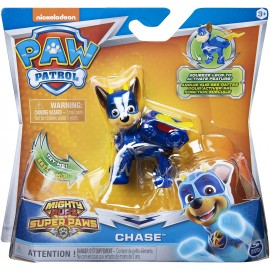 PAW PATROL Mighty Pups Super Paws Chase di Spin Master 6052293