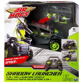 Air Hogs - Shadow Launcher, Set con elicottero e veicolo telecomandati