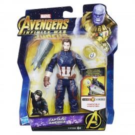 The Avengers Infinity War Captain America con infinity Stone di Hasbro E1407
