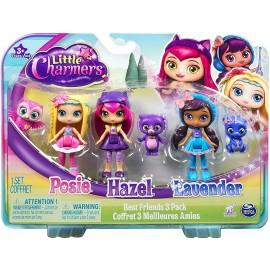 Little Charmers serie completa 3 personaggi bambola Hazel - posie - lavender  - 8 cm