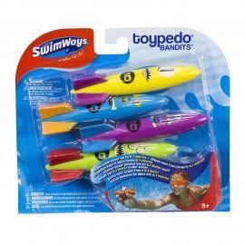 Toypedo Bandits, Confezione da 4 Pezzi - SwimWays 6038065
