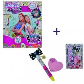 SET COMPLETO Maggie & Bianca Music Diary di Simba +Maggie & Bianca Secret Pen