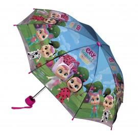 OMBRELLO Cry Babies Magic Tears Fantasy Winged House apertura 80 cm chiuso 25 cm RAINING KIDS