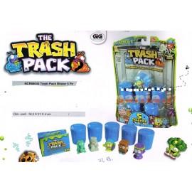 Trash Pack, Pattumeros Bidonciono blister 5 bidoncini