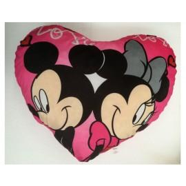 Peluche Topolino e Minnie  Cuore con scritta - Love  - dimensioni circa 75 x 65 cm