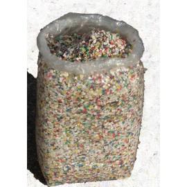coriandoli in sacco da 10 kg deluxe, questo coriandolo è creato con carta vergine di buona qualità  , immagine con contenuto del sacco variabile