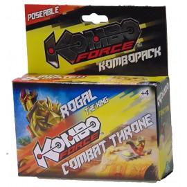 KOMBO FORCE PERSONAGGI  COMPLETI CON VEICOLO ROGAL THE KING - COMBAT THRONE  GIOCHI PREZIOSI KMC03010