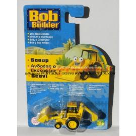 BOB THE BUILDER, BOB AGGIUSTATUTTO : PERSONAGGIO SCOOP COD. LC65600 circa 6 cm complessivi