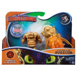 DreamWorks Dragons Legends Evolved, Fishlegs and Meatlug, Dragon with Viking Figure and Accessories di Spin Master 6045161