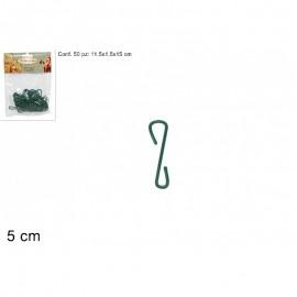 Ganci per palline natalizie colore verde in bustina - decori in generale  50 pz circa