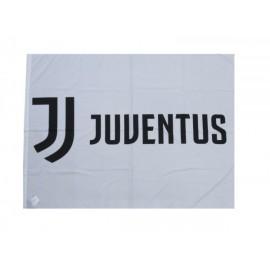 Bandiera grande logo  Juventus 100x140 cm Flag Juve Prodotto Ufficiale BASE BIANCA