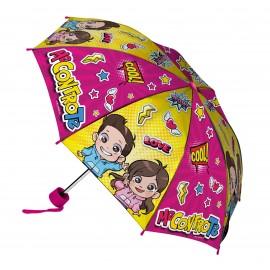 ME CONTRO TE , Nuovo Modello Ombrello pieghevole - apertura 80 cm RAINING KIDS CHIUSO CIRCA 52 CM ripiegabile a 25 cm x scuola