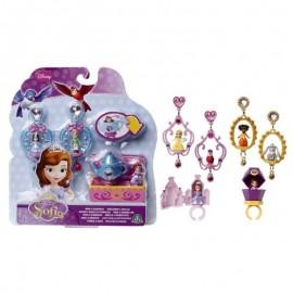 Princesa Sofia - Orecchini E Anello di Castello + 3 Mini Bambole