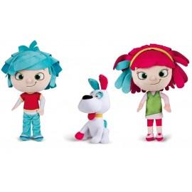 Peluche YoYo Ragoo - Peluche Yo-She - Peluche Yo-He con altezze proporzionate personaggi 35 cm circa - cagnolino con orecchie 25 cm