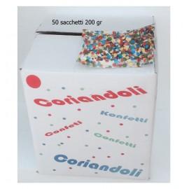 Coriandoli in sacchetto da 200 gr offerta scatola 50 pz come foto. konfetti - confetti - kontettis - confeti . 50 pz - 200 gr - coriandoli totale circa 10 kg