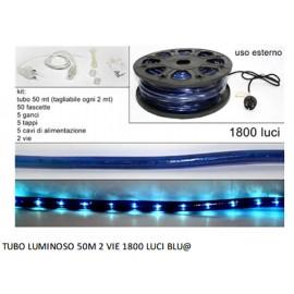 tubo luminoso - luce calda 50 mt 2 vie 1800 luci blu 8027501091759